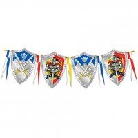 Contiene : 1 x Ghirlanda bandierine scudo cavaliere