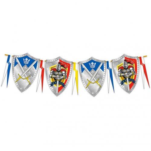 Ghirlanda bandierine scudo cavaliere