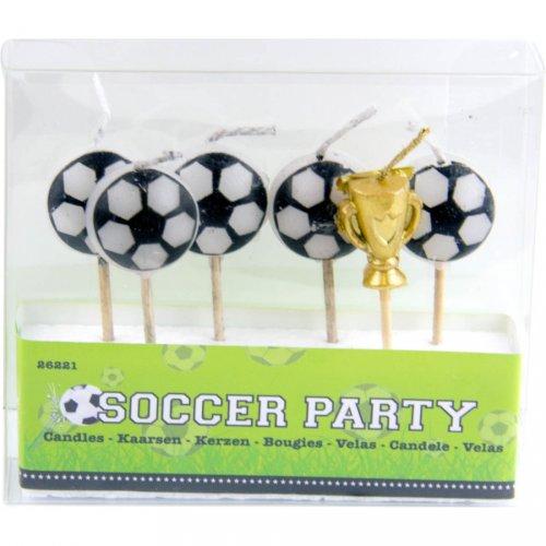 6 Candele da calcio piccole
