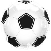 Palloncino piatto Football Nero/bianco