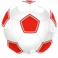 Palloncino piatto Football Rosso/bianco
