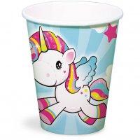 Contiene : 1 x 8 Bicchieri Unicorno Kawaïï