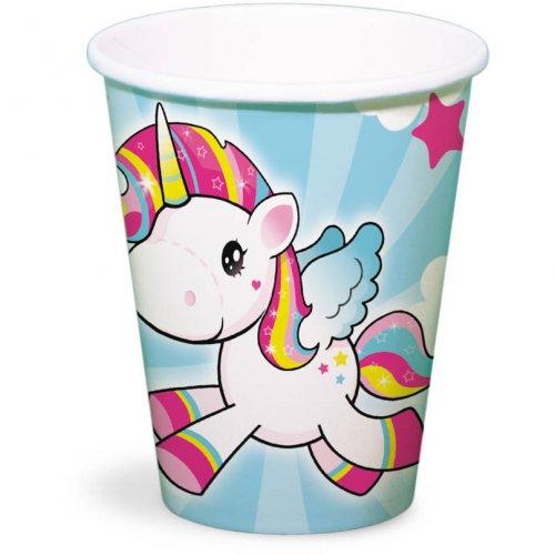 8 Bicchieri Unicorno Kawaïï