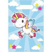 8 Sacchetti regalo in Unicorno Kawaï