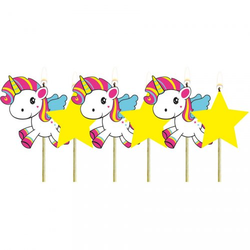 Mini Candele Unicorno Kawaii