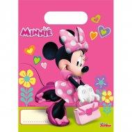 6 Sacchetti regalo Happy Minnie