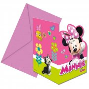 6 Inviti Minnie Happy