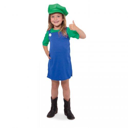 Costume Luigi Mario Bros Ragazza