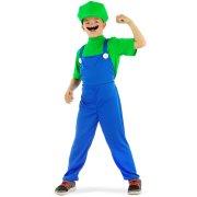Travestimento Super Mario Bambino Verde 6-8 anni