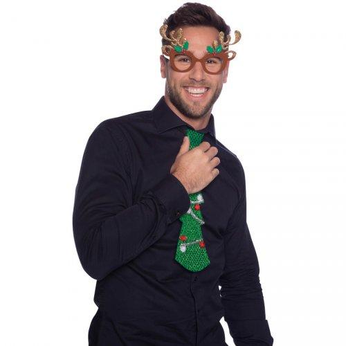 Occhiali di Natale Renna Glitter (bambino/adulto)