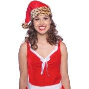 Cappello Babbo Natale Leopardato (bambino/adulto)
