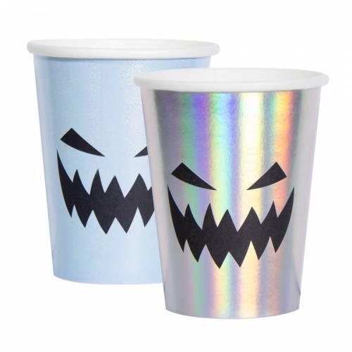 6 Bicchieri Halloween Iridescente Pastello