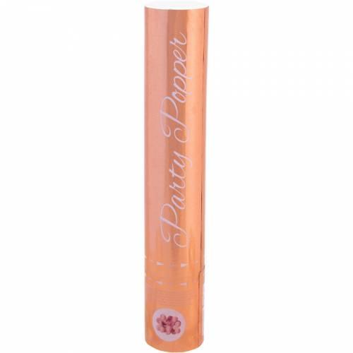 Cannone sparacoriandoli Rosa dorato - 28cm
