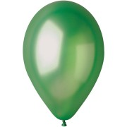 10 palloncini verdi madreperla Ø30cm