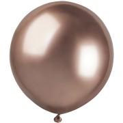3 palloncini rosa gold cromati Ø48cm