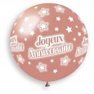 1 palloncino oro rosa Happy Birthday Ø80cm