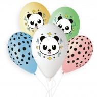 5 palloncini Panda Ø33cm
