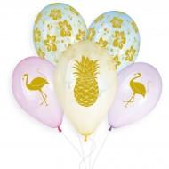 5 palloncini tropicali Ø33cm