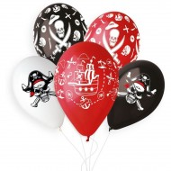 5 palloncini pirata Ø33cm