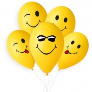 5 palloncini Smile Ø33cm
