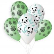 5 Palloncini Panda Bambù Ø33cm