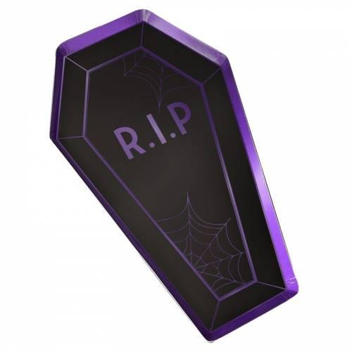 8 Piatti Bara - Purple Halloween