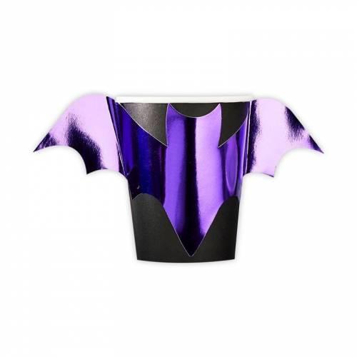 8 Bicchieri Pipistrello - Purple Halloween