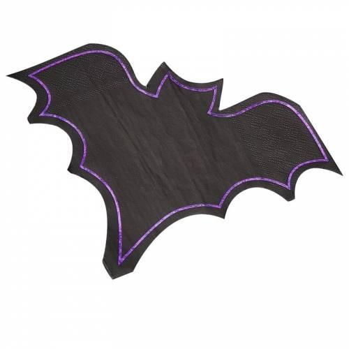 16 Tovaglioli Pipistrello - Purple Halloween