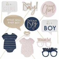 Kit Cornice Photo Booth Baby Shower - It's a Boy It's a Girl ?
