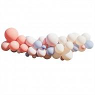 Kit Arco da 60 palloncini - Nude/Blu/Bianco