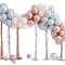 Kit arco da 95 palloncini in metallo - oro rosa/argento/avorio images:#0