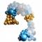 Kit Arco Deluxe da 200 palloncini - Oro metallico/blu metallico/azzurro/bianco images:#0