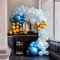 Kit Arco Deluxe da 200 palloncini - Oro metallico/blu metallico/azzurro/bianco images:#1