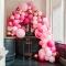 Kit arco deluxe da 200 palloncini - Oro rosa metallizzato/rosa images:#1