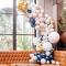 Kit arco deluxe da 200 palloncini - Oro metallico/nude/navy/bianco images:#1