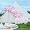 Kit Arco Deluxe da 200 palloncini pastello - Rosa/Parma images:#1