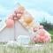 Kit Arco deluxe da 200 palloncini - Oro rosa metallizzato/pesca/corallo/rosa images:#1