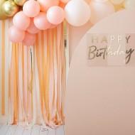 Kit decorazione - palloncini e tenda Oro/pesca/crema