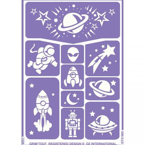Stencil per trucco Galassia