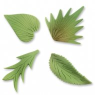 Assortimento di 8 foglie in pasta di zucchero