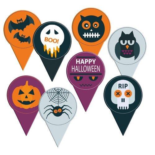 8 Medaglioni di Halloween (6 cm) - Cartone