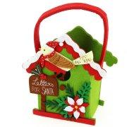 Borsa Casetta di Natale Verde (18 cm) - Pannolenci