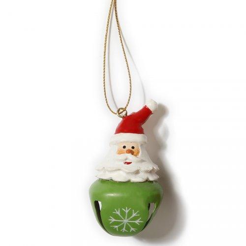 Addobbo Natalizio Campanellino Babbo Natale (6 cm) - Metallo e Resina
