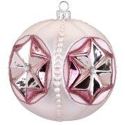 Palla di Natale Stella Rosa Bijou (10 cm) - Vetro