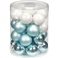 28 Mini palle Harmonie blu ghiaccio (3 cm) - Vetro