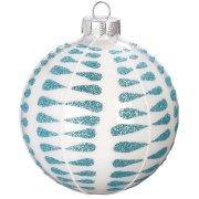 Palla di Natale Blu Smerigliato N°3 (8 cm) - Vetro