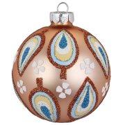 Palla di Natale color Bronzo Birdy (8 cm) - Vetro