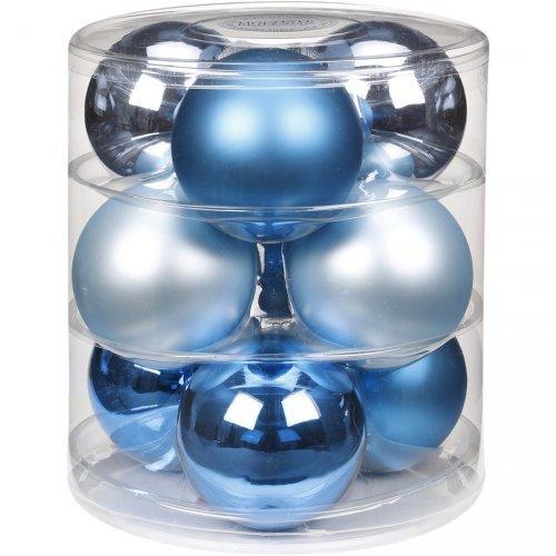 9 Maxi Palle di Natale Magic Blue (9 cm) - Vetro