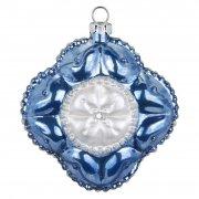Palla di Natale Fiore Regale Bijou (8 cm) - Vetro