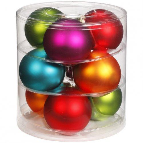 9 Maxi Palle di Natale 5 Colori (9 cm) - Vetro